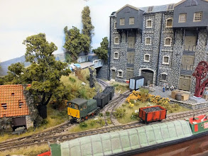 Photo: 004 First layout spotted was in the entrance hall and was Richard Holder's award winning triangular 009 layout from ExpoNG last year, Windrush Wharf .