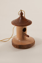 "Photo: Bob Grudberg 2"" x 1"" birdhouse"