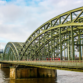 The Hohenzollern Bridge by Amanda Dacey - Buildings & Architecture Bridges & Suspended Structures ( cologne, rhine, koln, germany, bridge, hohenzollern )