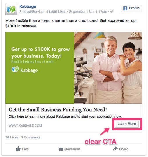 Kabbage, a small business loan platform. Source: HubSpot
