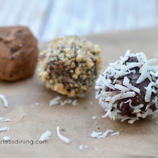 Dark Chocolate Truffles Three Ways