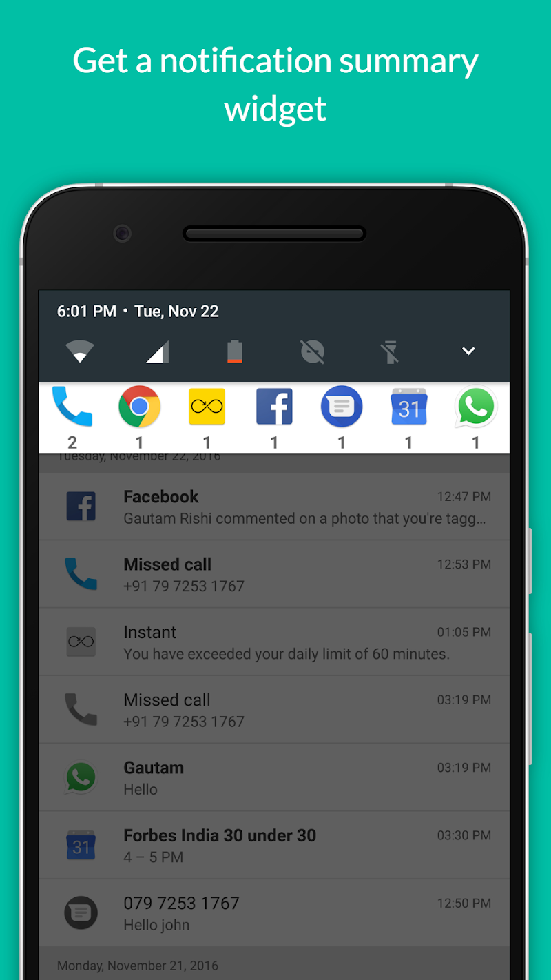 Notification Hub Screenshot 1