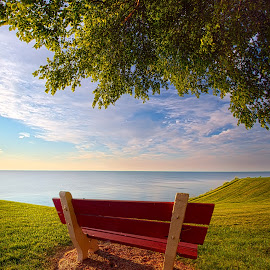 Sailed Away by Phil Koch - City,  Street & Park  Vistas ( office, vertical, blue, serene, green, yellow, scenic, portrait, photography,  )