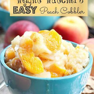 Weight Watchers Easy Peach Cobbler.