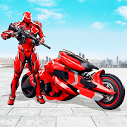 Futuristic Moto Robot Hero Bike Robot Games