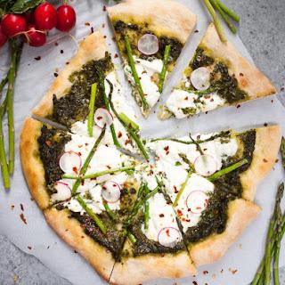 Asparagus, Burrata, & Pesto Pizza