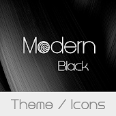 Modern Black Theme + Icons