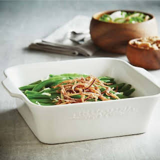 Green Beans with Crispy Spiral Onions.