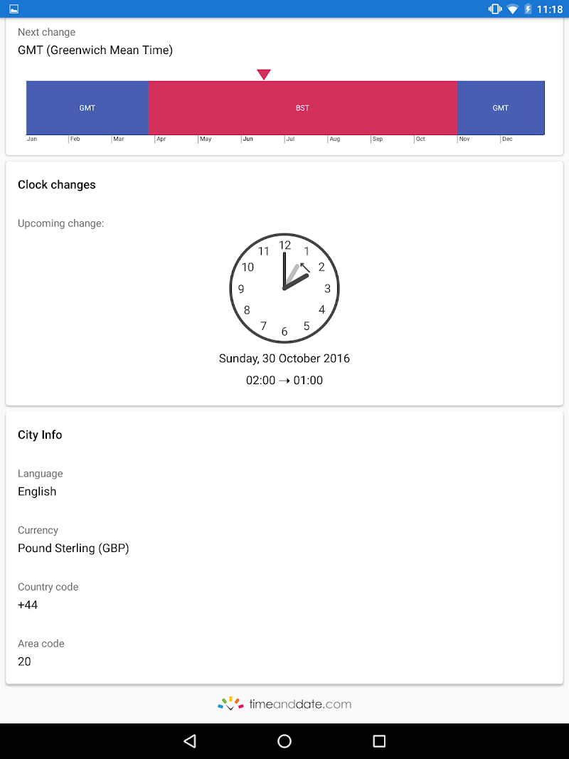 World Clock by timeanddate.com Screenshot 13