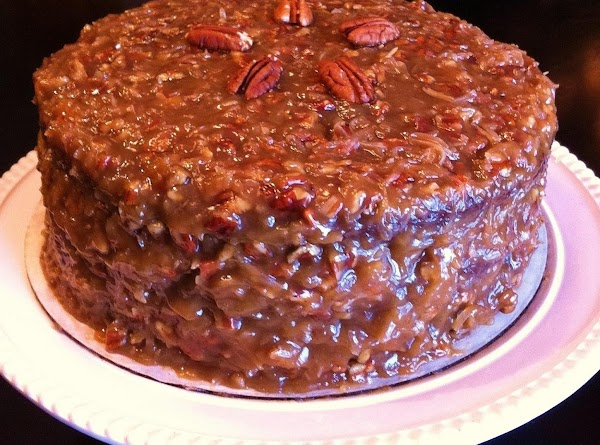 German Chocolate Cake With Coconut-pecan Frosting Recipe