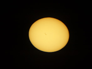 Photo: Mülheim camera obscura - the sun's disk showing visible sunspots just off centre to the left