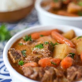 Slow Cooker Massaman Beef Curry.