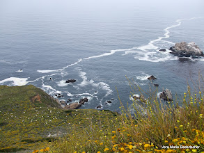 Photo: Tide draws lines on the water Big Sur coastline
