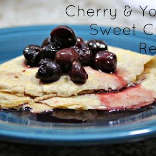 Healthy Cherry & Yogurt Sweet Crepe.