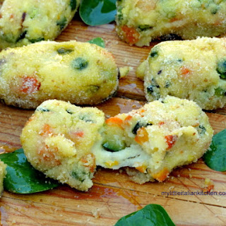 Light Vegetable Croquettes With Cheese.