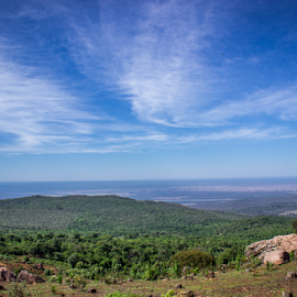 mountain top view by Peet Snyder - Landscapes Travel ( hill, view, mountain, rocks, clouds, landscape, rocky )