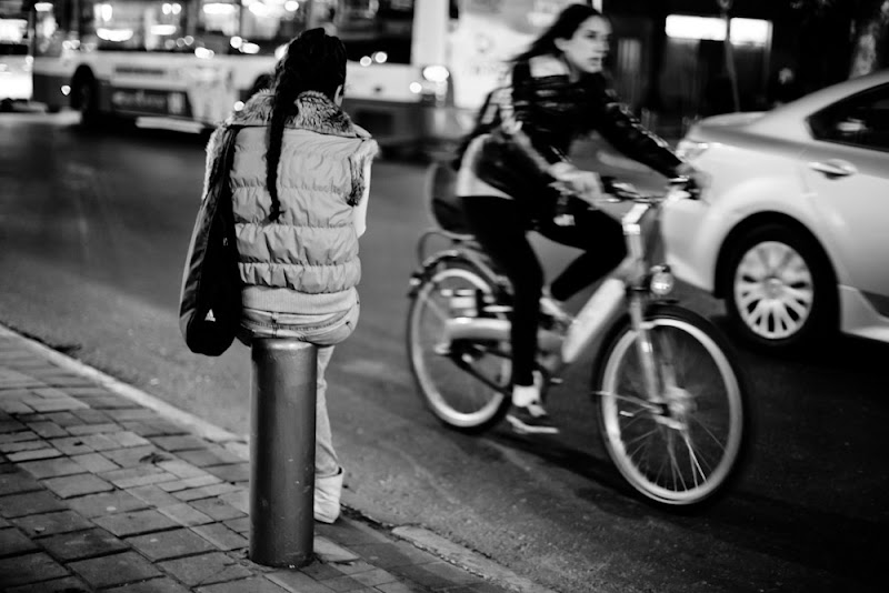 Photo: waiting for bus