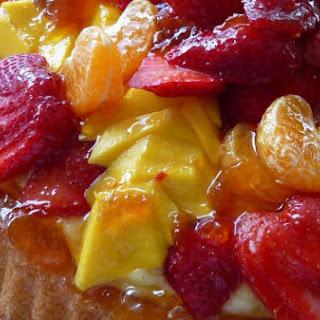 Mango Strawberry Fruit Flan with Crème Pâtissière Filling