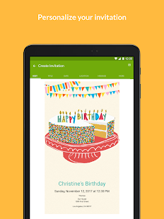 Evite invitations guest rsvp apps on google play screenshot image filmwisefo