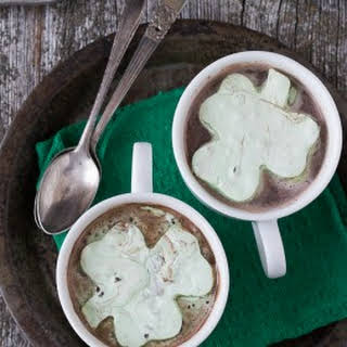 Mint Chocolate Chip Shamrock Marshmallows.