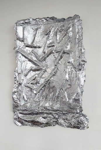 Rob Walters, Prime Directions, Synthetic resin on sculpted paper and silver paper, 38x56x6cm, 2020