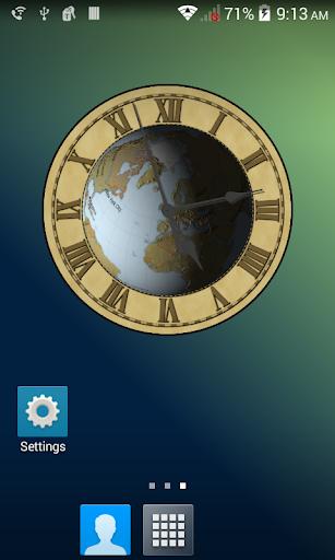 Earth Clock Wallpaper Demo