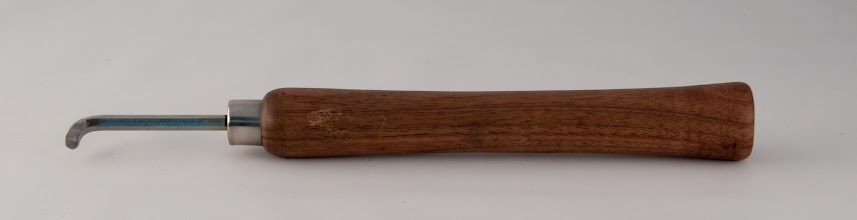 "Photo: Bob Browning 12"" hollowing tool [allen wrench and walnut]"