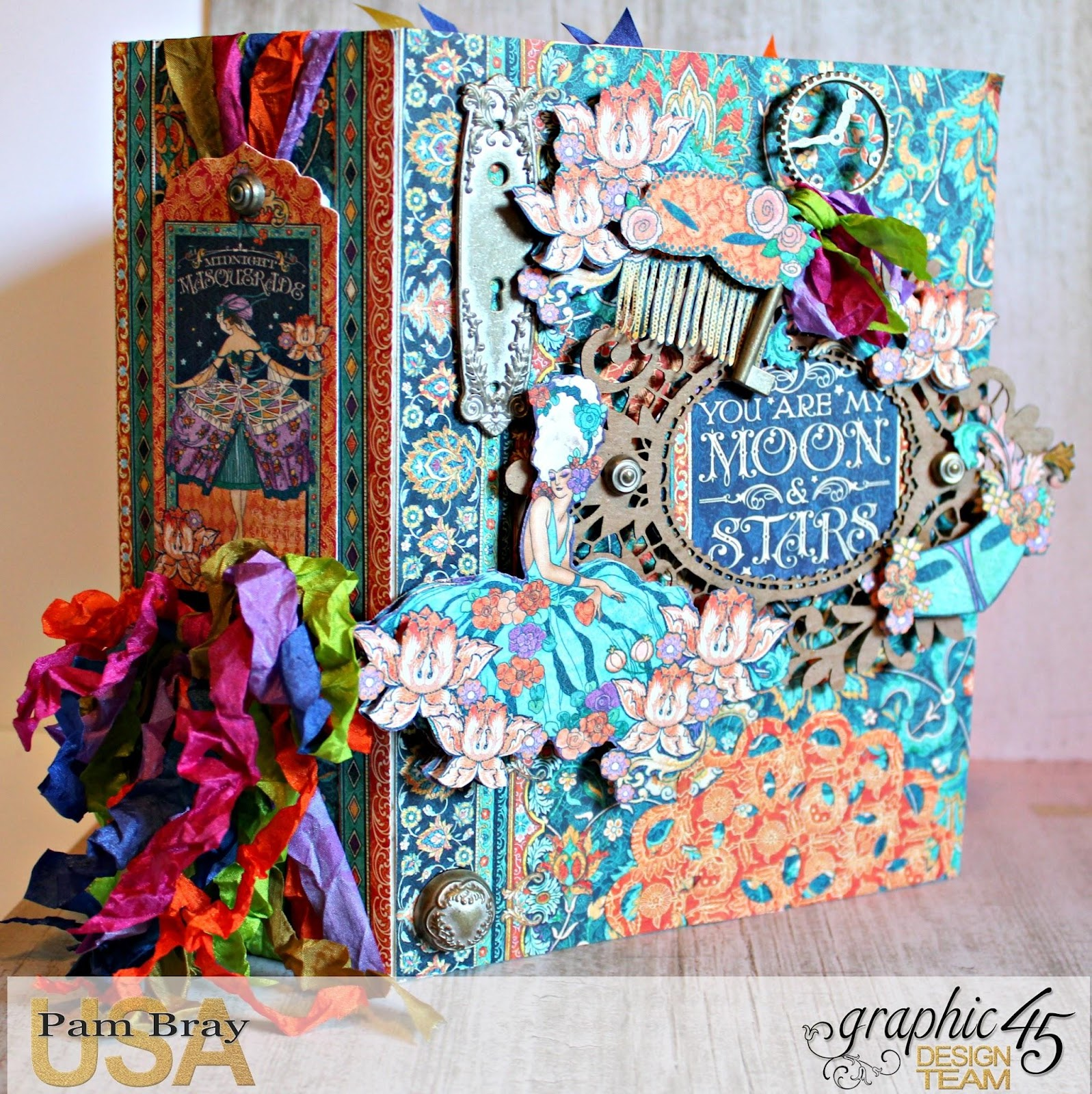 2017 G45 Brand Ambassadors- 2017 Pam Bray  - October 2017 - Midnight Masquerade Album with Tutorial using Ephemera and Brads - Photo 2 _7839.jpg