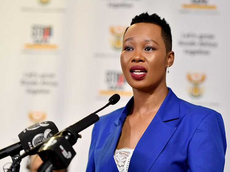 Minister of communications & digital technologies Stella Ndabeni-Abrahams. Picture: GCIS