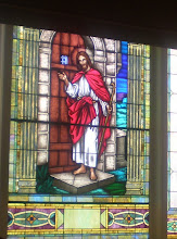Photo: the head of Jesus was blown off by the bomb, nothing else was affected in the stained glass