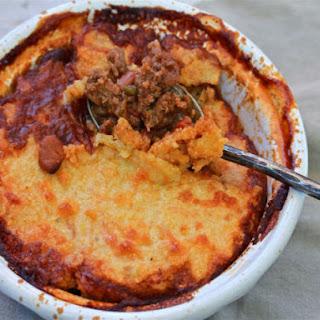 Beef Tamale Pie with Cornmeal Crust Recipe