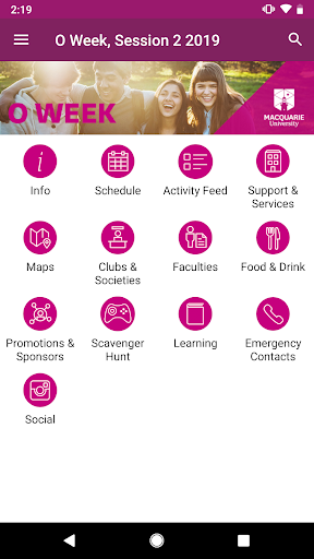 Screenshot for Macquarie University Events in United States Play Store