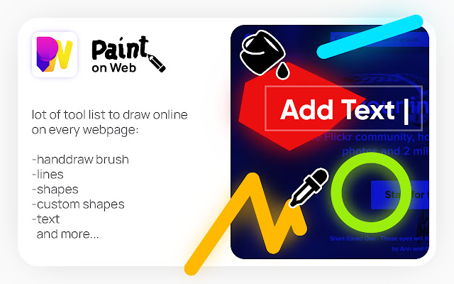 Paint on Web - online draw
