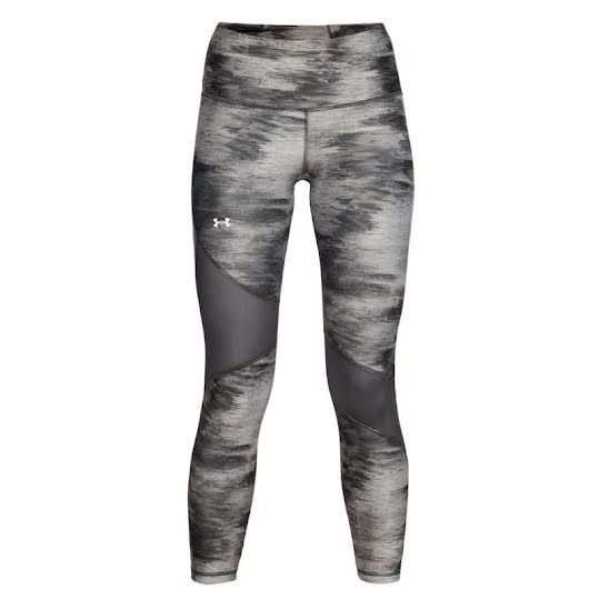 Under Armour Crop Print Heatgear Legging Dam Grey träningstights  Stl: M