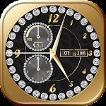 Gold Diamond Clock Icon
