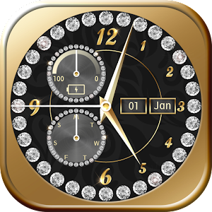 Gold Diamond Clock