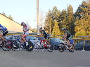Photo: Your faithful race organizer jumps into the bunch as well!