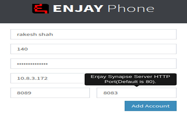Enjay Phone - SIP Client for Asterisk/Synapse