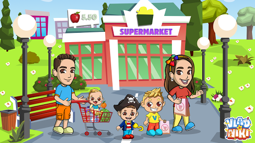 Vlad & Niki Supermarket game for Kids screenshots 4