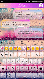 COLOR RAIN Emoji Keyboard Skin screenshot 2