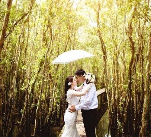 Làng nổi Tân Lập lung linh trong ảnh cưới 3