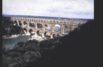 Photo: The three tiers aqueduct bridge which in Roman times brought water from Uzès to Nimes