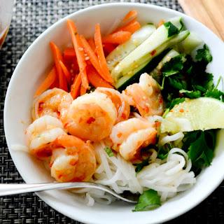 Vietnamese Shrimp Noodle Bowls.