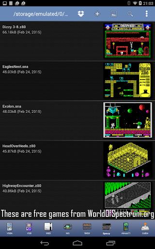 Speccy - Complete Sinclair ZX Spectrum Emulator screenshots 18
