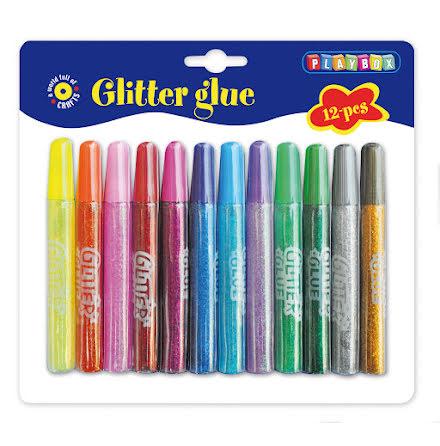 Glitterlim 10ml 12färger