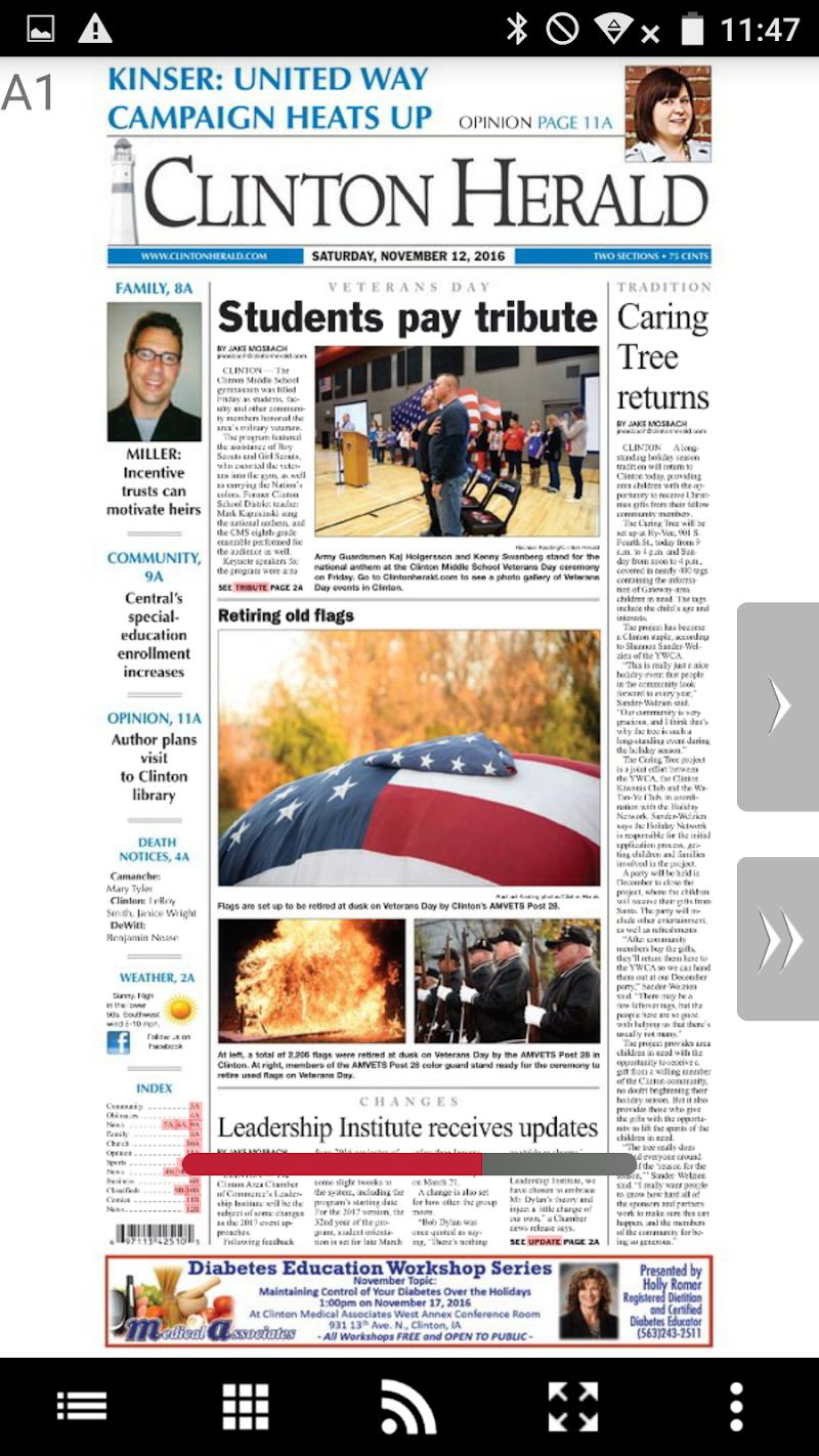 Скриншот Clinton Herald