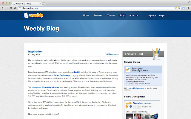Weebly Site Detection