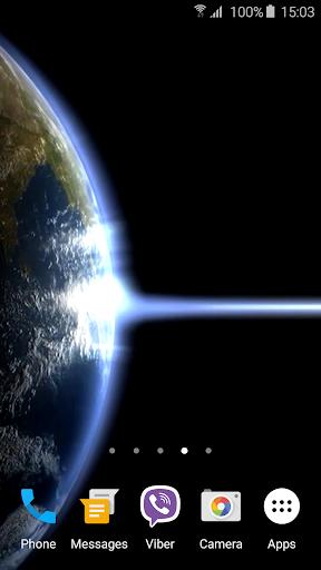 地球と光ライブ壁紙