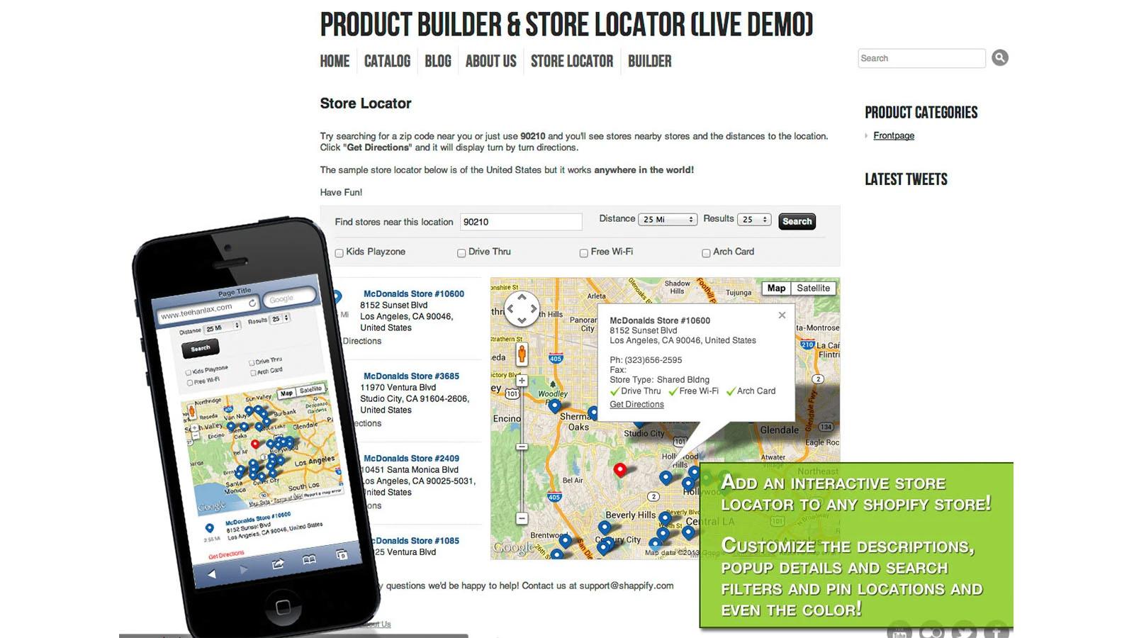 Shopify store locator app