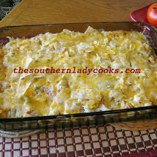 CHICKEN TORTILLA CHIP CASSEROLE.